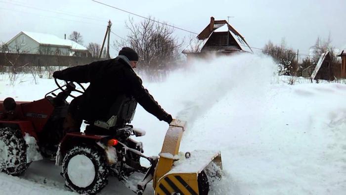 Уборка снега МТЗ 082