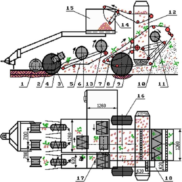 Технология обработки клубней