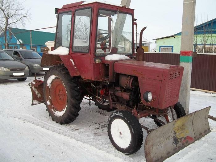 Трактор т 25 с фронтальным отвалом