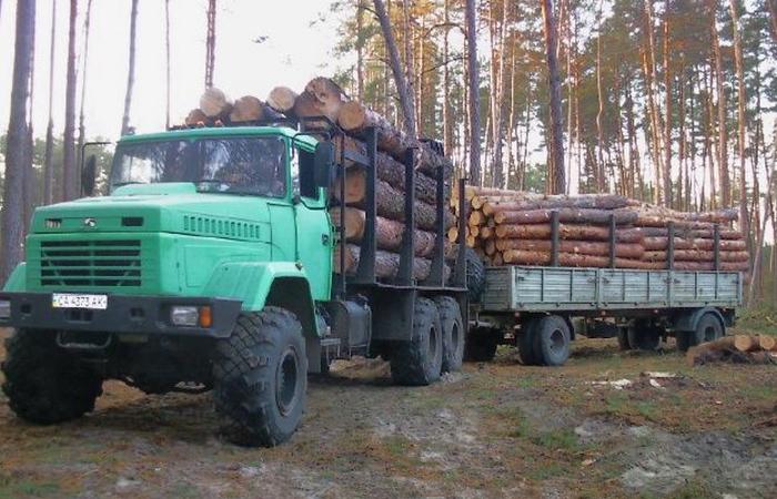Технические характеристики лесовоза КрАЗ