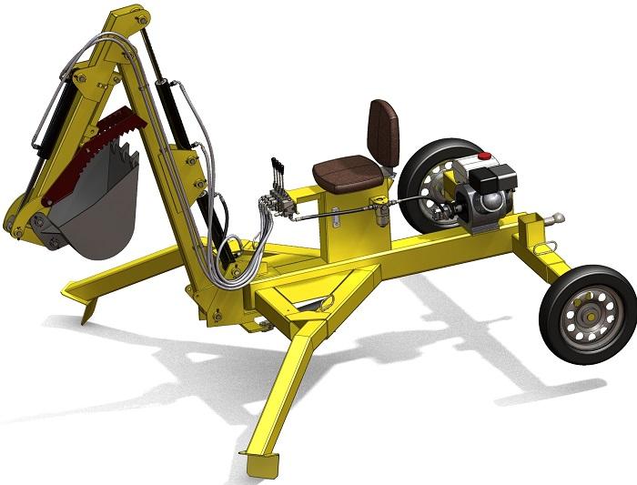 Модель мини эксаватора