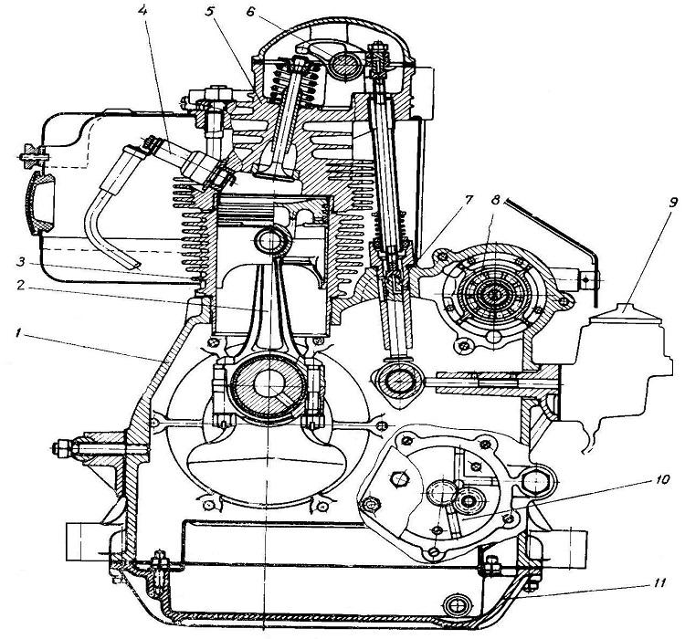 Чертеж мотора