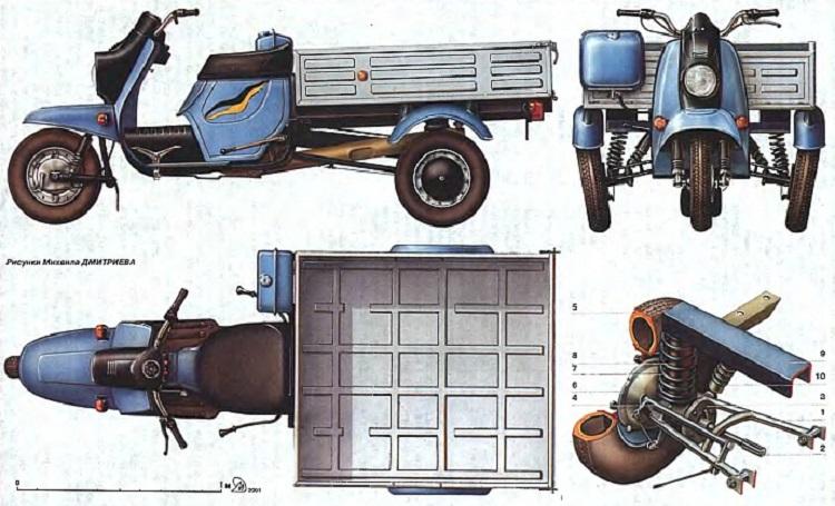 Схема мотороллера