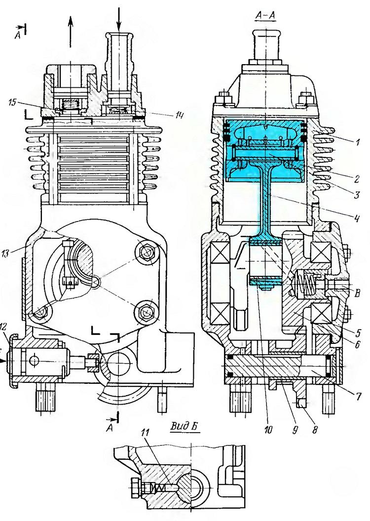 Чертеж компрессора