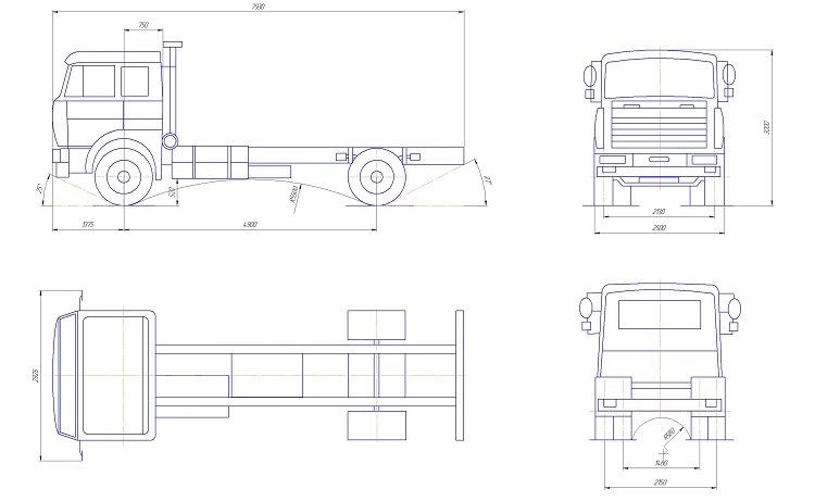 Схема грузовика