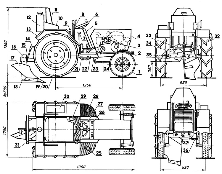 Схема трактора